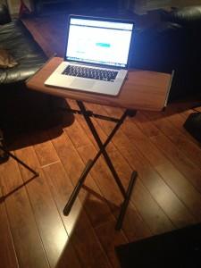 My piano-stand, portable desk.